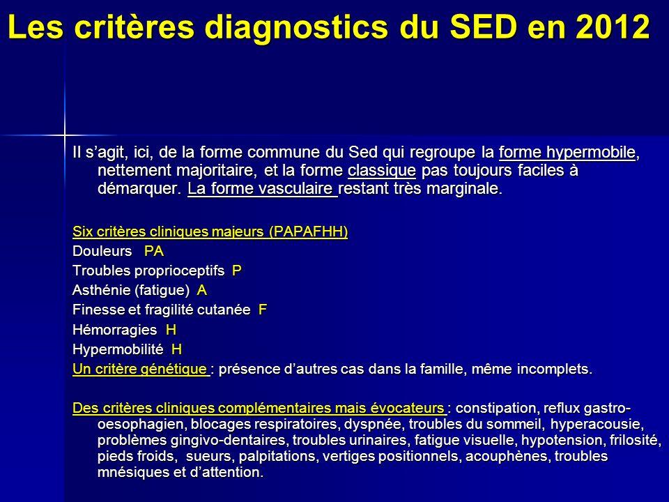 Les critères diagnostics du SED en 2012