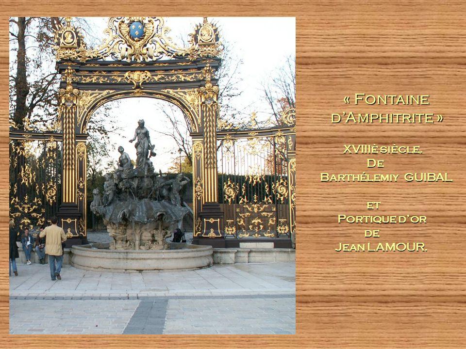 « Fontaine d'Amphitrite » XVIIIè siècle. De Barthélemiy GUIBAL et