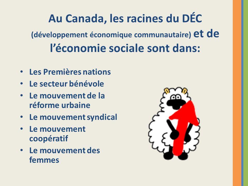 Au Canada, les racines du DÉC (développement économique communautaire) et de l'économie sociale sont dans: