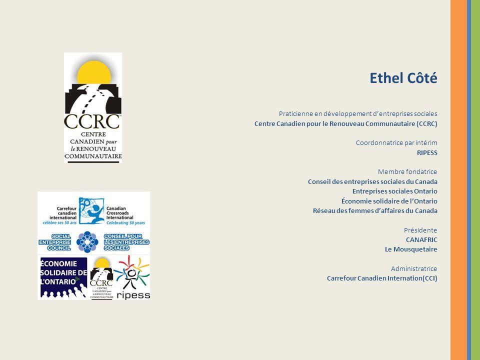 Ethel Côté Praticienne en développement d'entreprises sociales