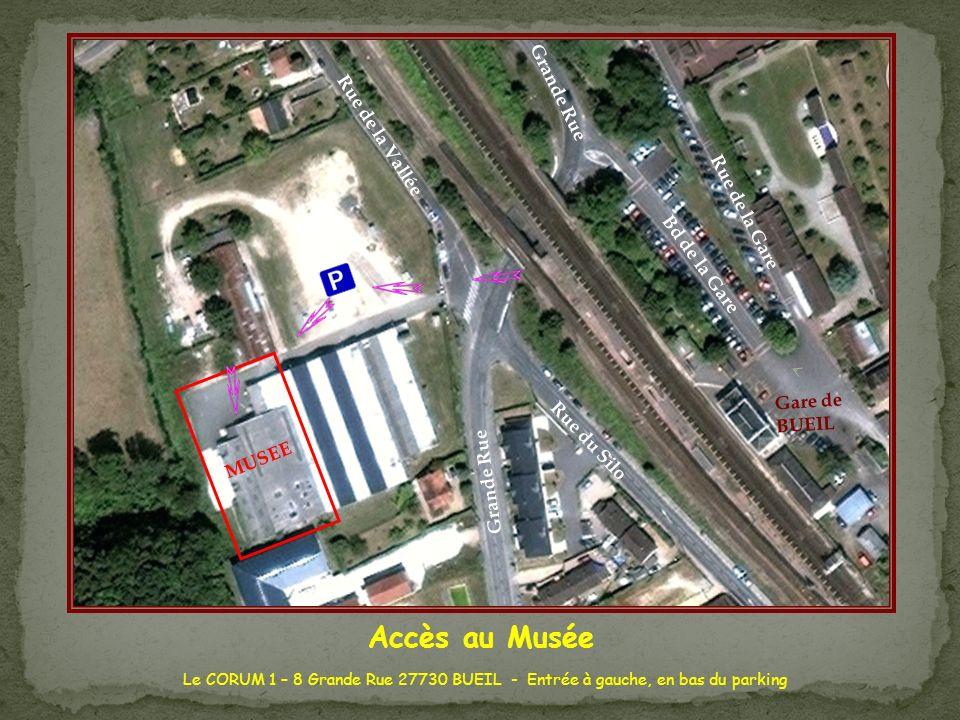 MUSEE Grande Rue. Bd de la Gare. Rue de la Gare. Rue du Silo. Rue de la Vallée. Gare de BUEIL.