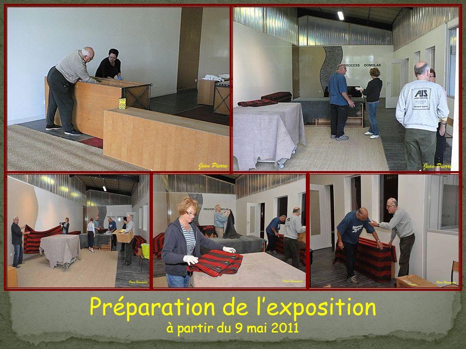 Préparation de l'exposition
