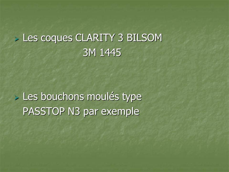 Les coques CLARITY 3 BILSOM