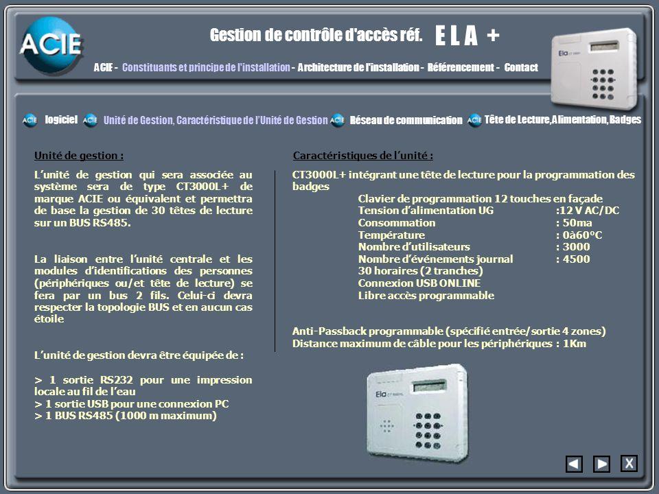 constit2 E L A + Gestion de contrôle d accès réf.