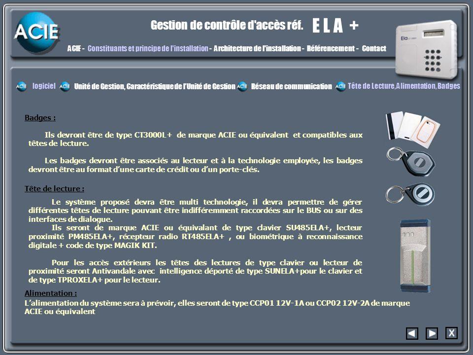 constit4 E L A + Gestion de contrôle d accès réf.