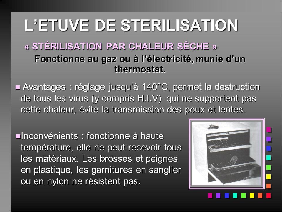 L'ETUVE DE STERILISATION « STÉRILISATION PAR CHALEUR SÈCHE »
