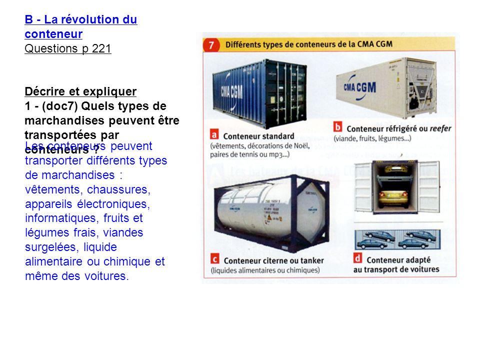 B - La révolution du conteneur