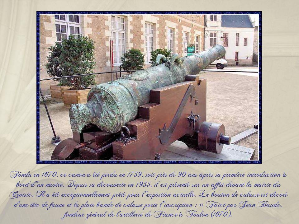Fondu en 1670, ce canon a été perdu en 1759, soit près de 90 ans après sa première introduction à bord d''un navire.