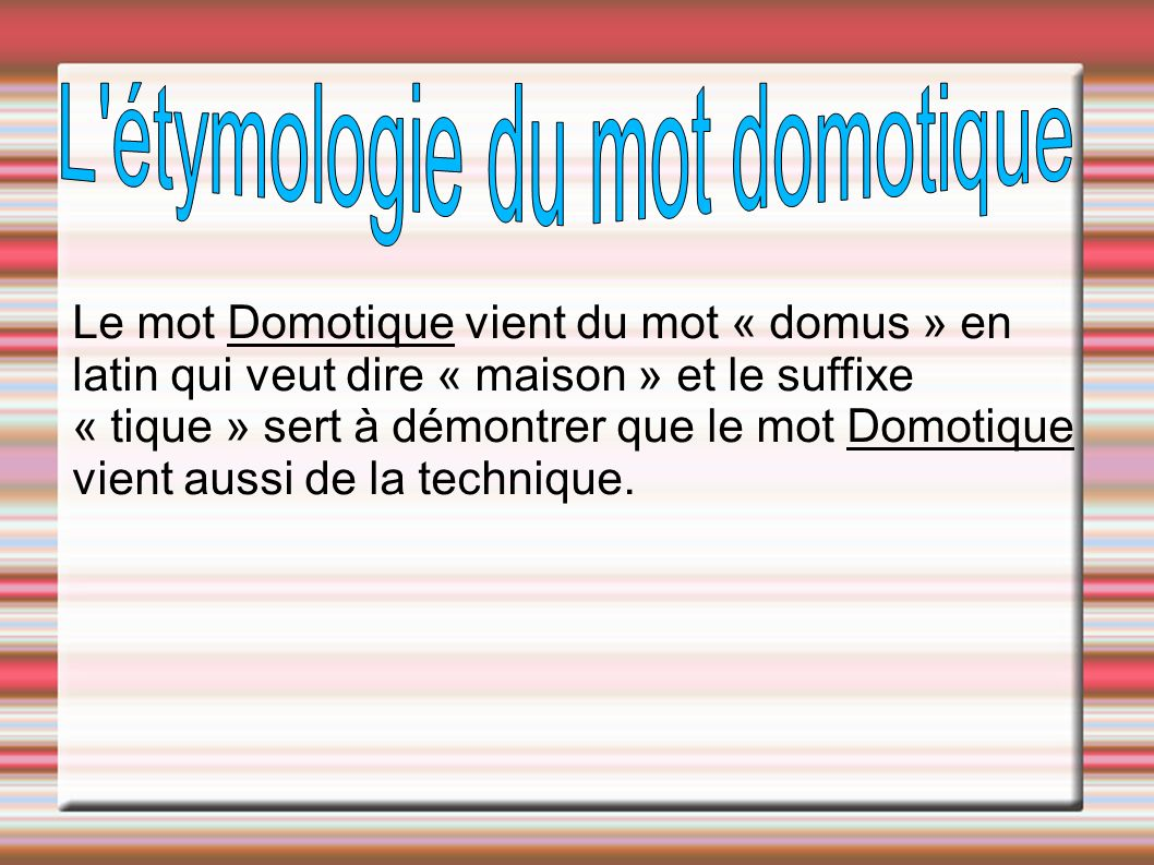 Domotique ppt t l charger for Etymologie du mot miroir