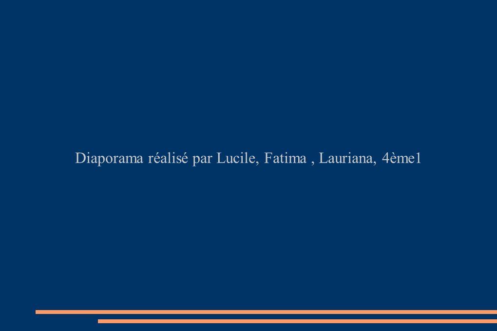 Diaporama réalisé par Lucile, Fatima , Lauriana, 4ème1