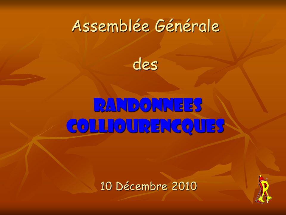 Assemblée Générale des RANDONNEES COLLIOURENCQUES