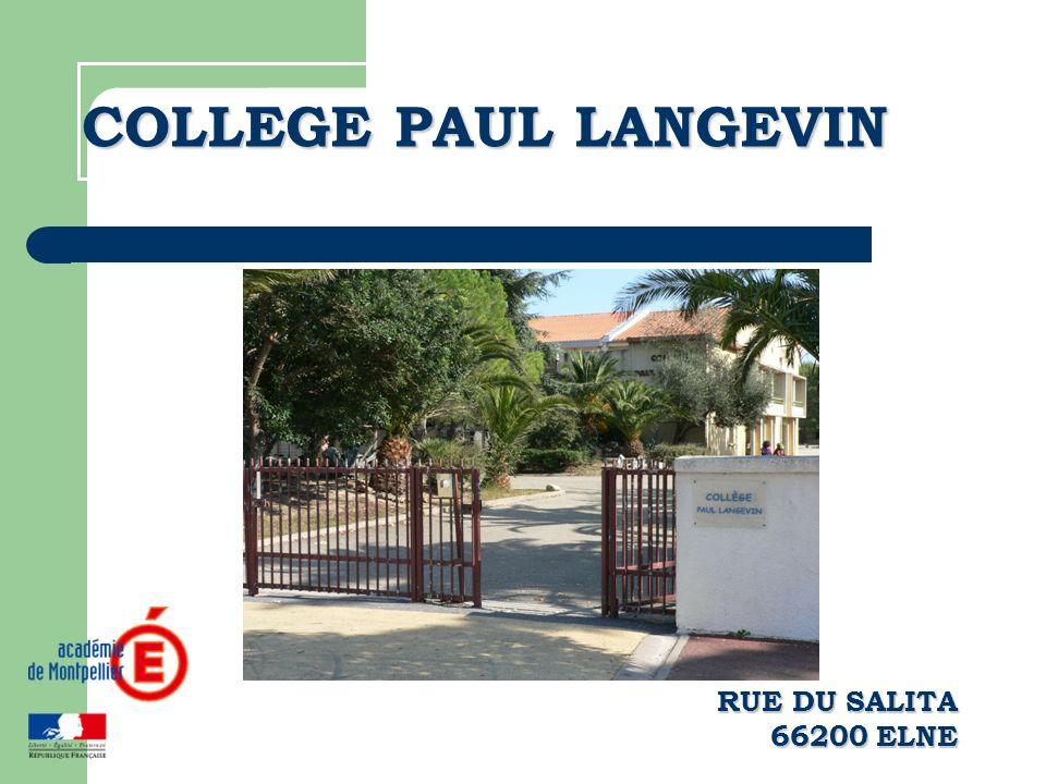 COLLEGE PAUL LANGEVIN RUE DU SALITA 66200 ELNE