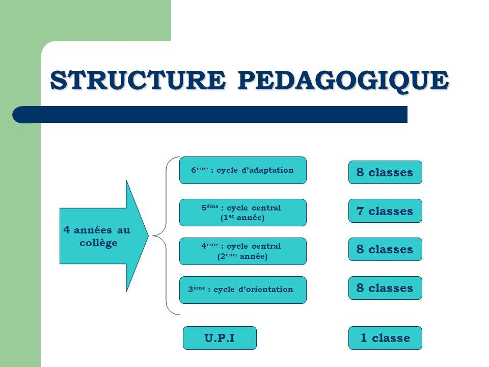 STRUCTURE PEDAGOGIQUE