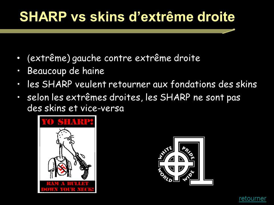 SHARP vs skins d'extrême droite