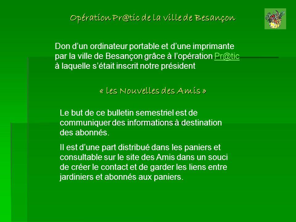 Opération Pr@tic de la ville de Besançon