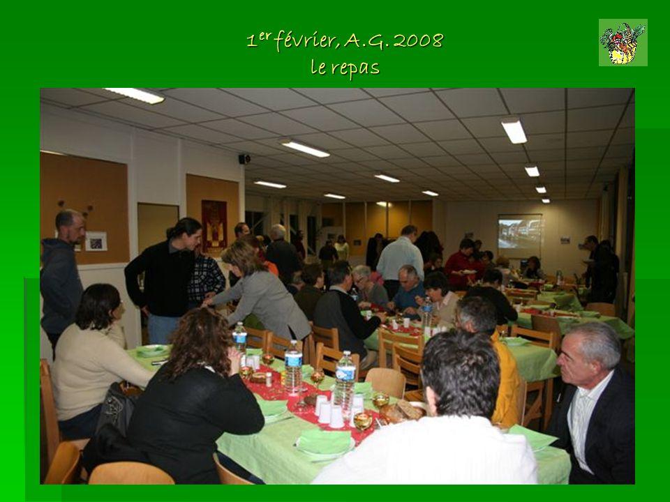 1er février, A.G. 2008 le repas