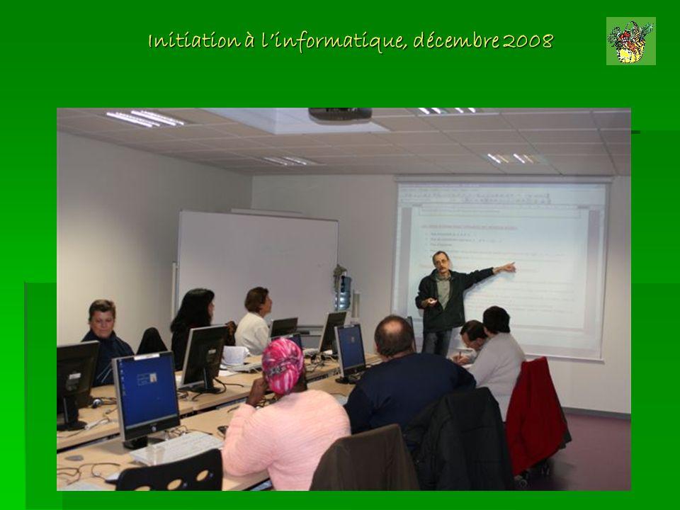 Initiation à l'informatique, décembre 2008