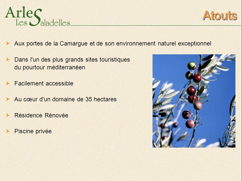 Atouts Aux portes de la Camargue et de son environnement naturel exceptionnel. Dans l un des plus grands sites touristiques.