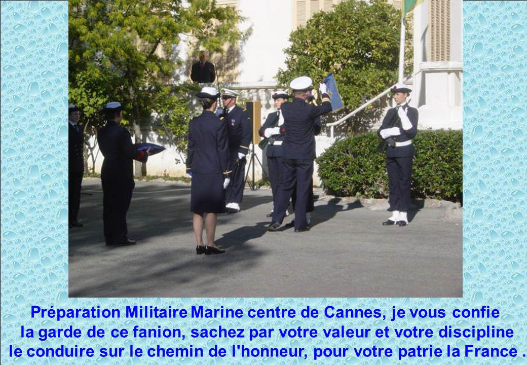 Préparation Militaire Marine centre de Cannes, je vous confie