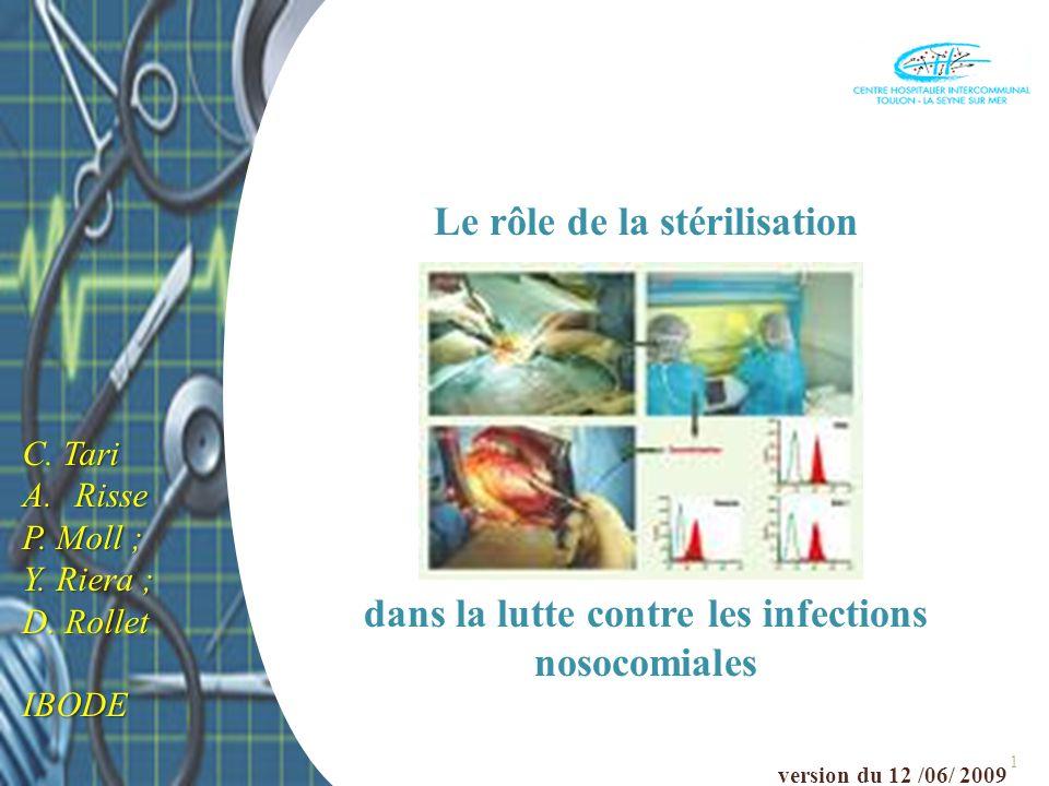 Le rôle de la stérilisation