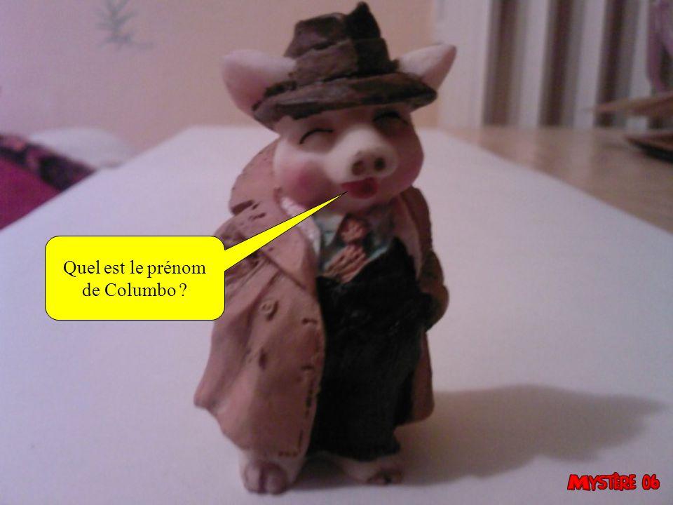 Quel est le prénom de Columbo 17