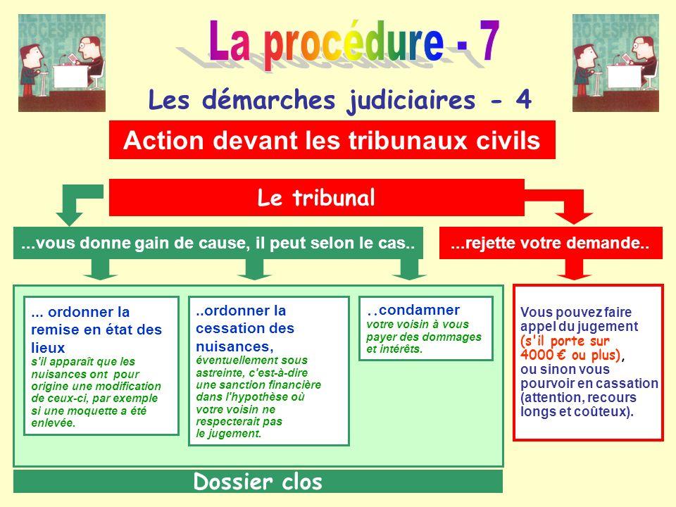 La procédure - 7 Les démarches judiciaires - 4