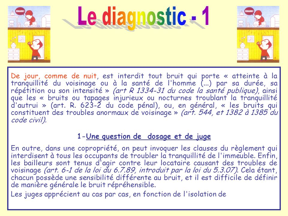 1-Une question de dosage et de juge