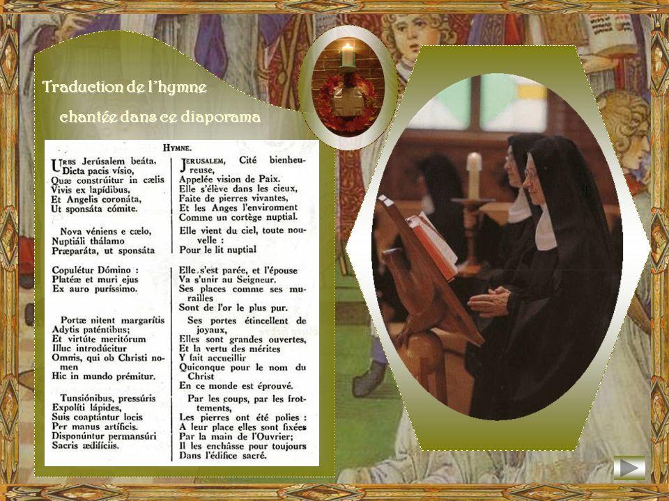 Traduction de l'hymne chantée dans ce diaporama
