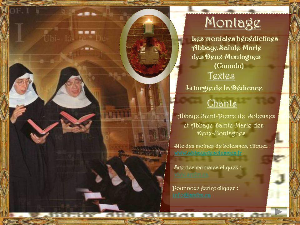 Montage Textes Chants Les moniales bénédictines Abbaye Sainte-Marie