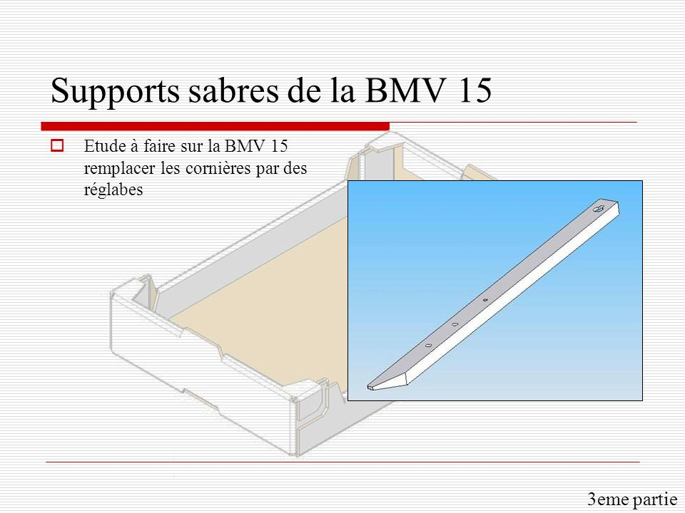 Supports sabres de la BMV 15
