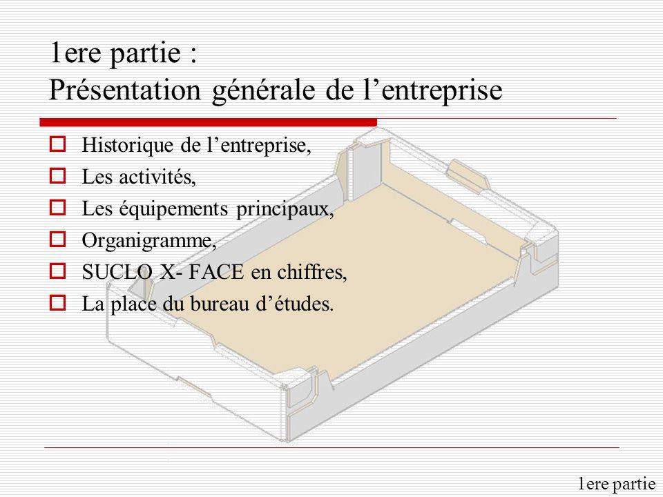 1ere partie : Présentation générale de l'entreprise