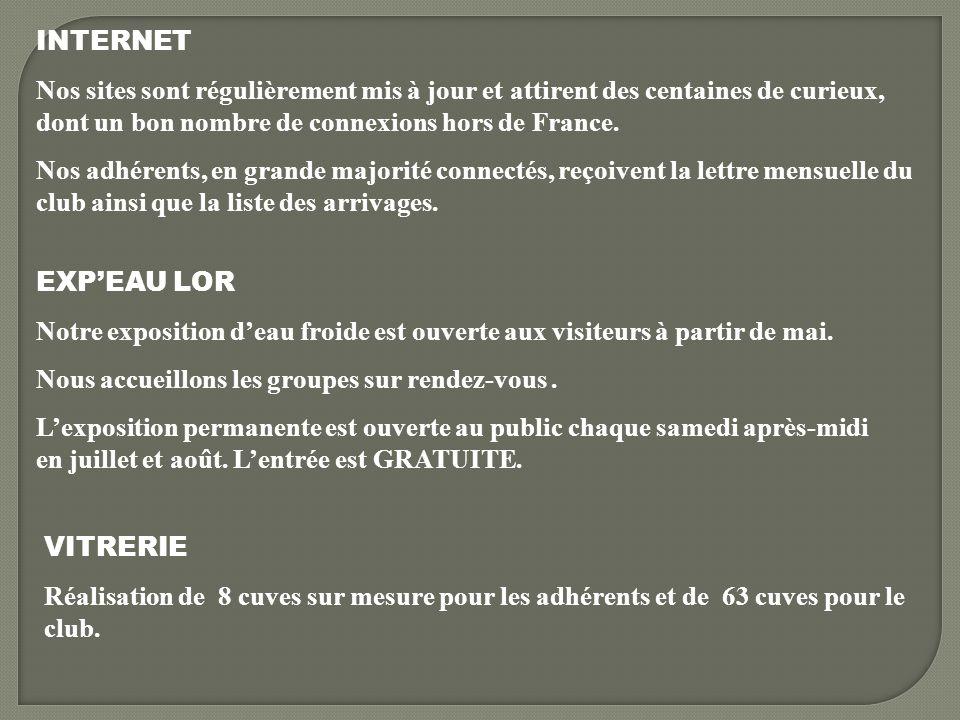 INTERNET Nos sites sont régulièrement mis à jour et attirent des centaines de curieux, dont un bon nombre de connexions hors de France.