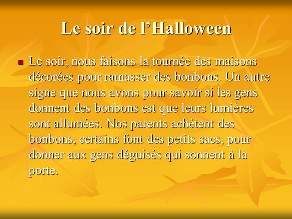 Le soir de l'Halloween