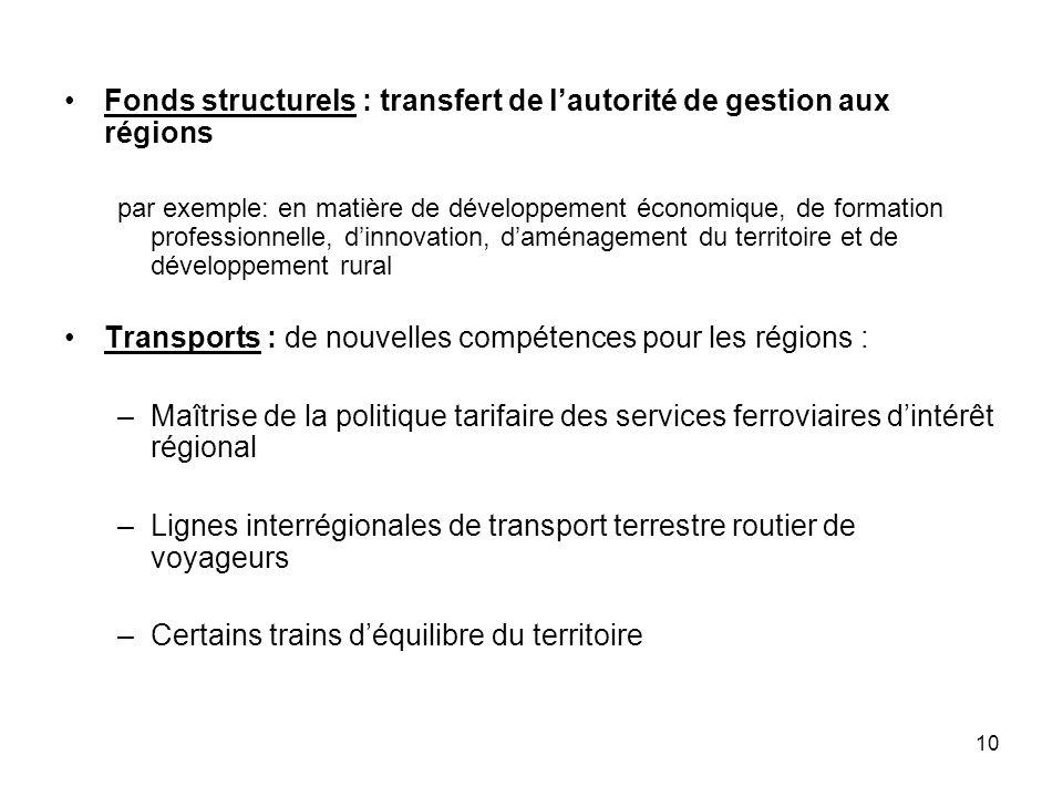 Fonds structurels : transfert de l'autorité de gestion aux régions