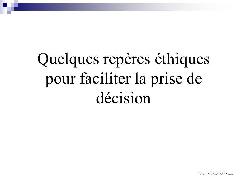 Quelques repères éthiques pour faciliter la prise de décision