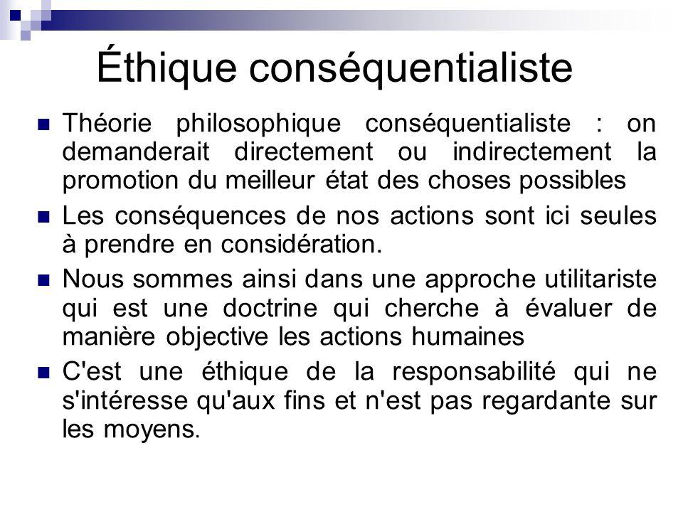 Éthique conséquentialiste