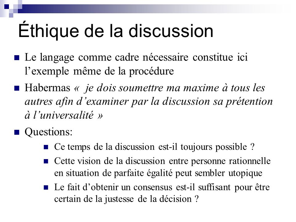 Éthique de la discussion