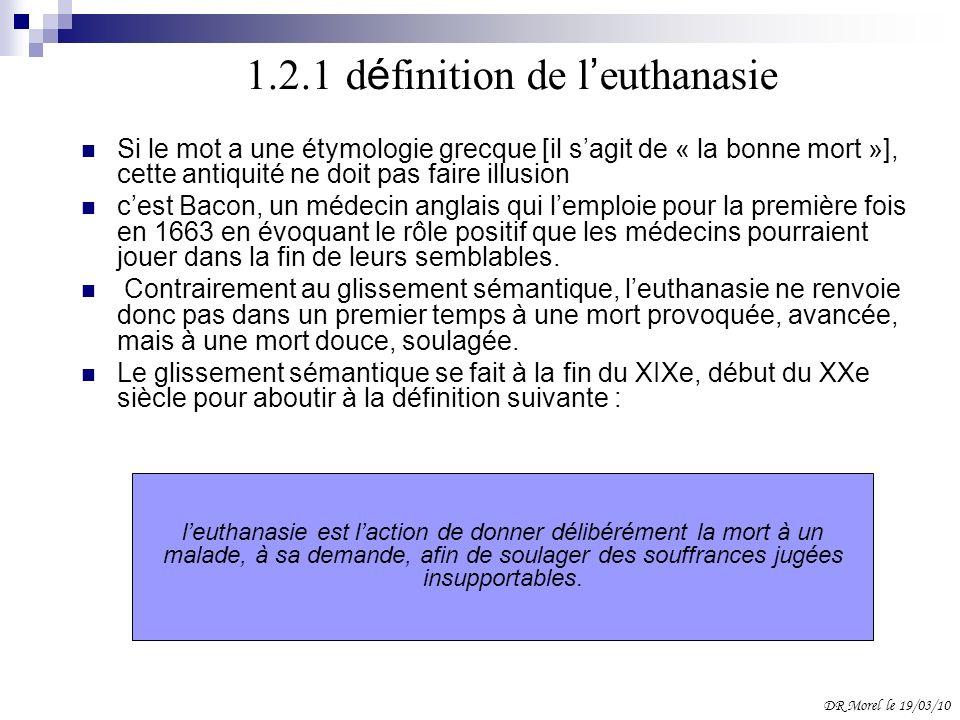 1.2.1 définition de l'euthanasie