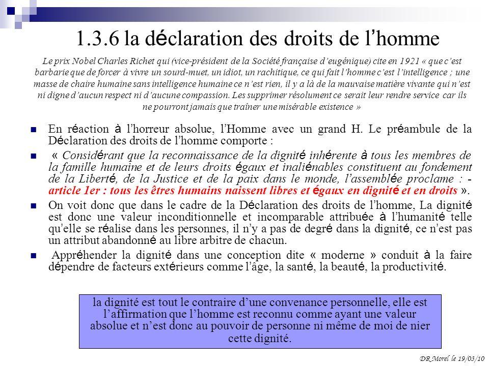 1.3.6 la déclaration des droits de l'homme