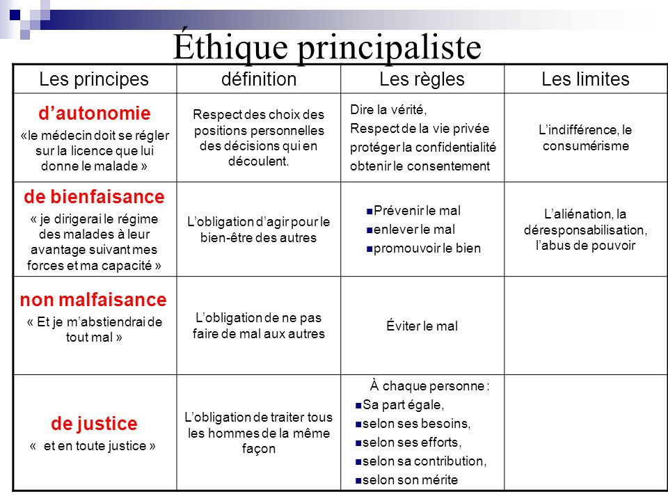 Éthique principaliste