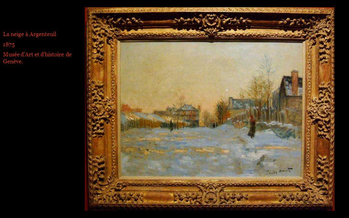 La neige à Argenteuil 1875 Musée d'Art et d'histoire de Genève.