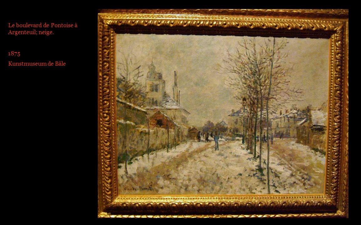 Le boulevard de Pontoise à Argenteuil; neige.
