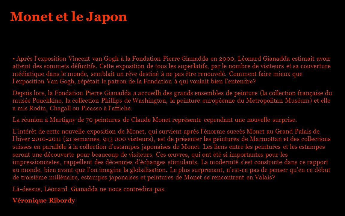 Monet et le Japon