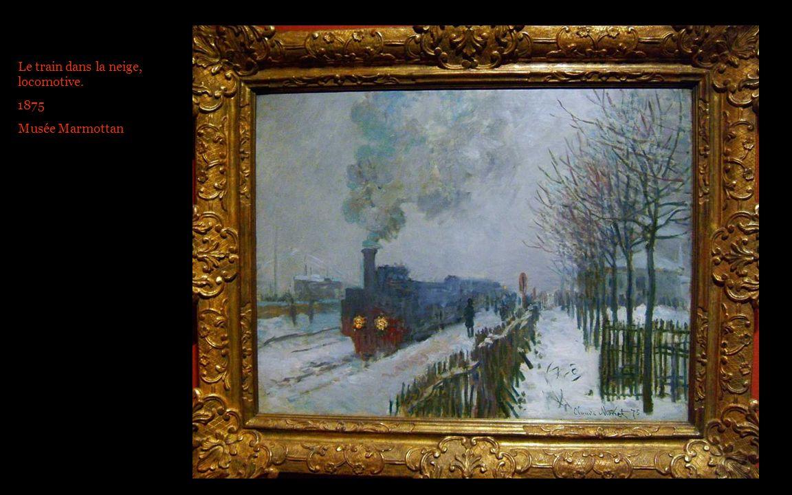 Le train dans la neige, locomotive.