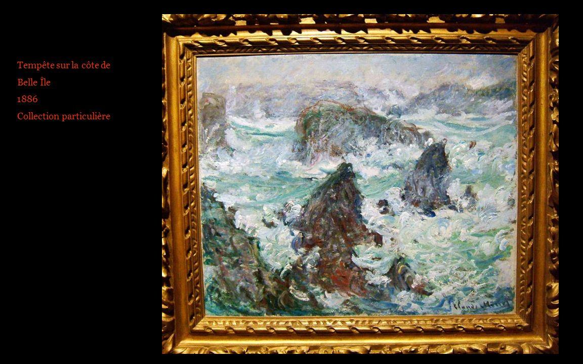 Tempête sur la côte de Belle Île 1886 Collection particulière