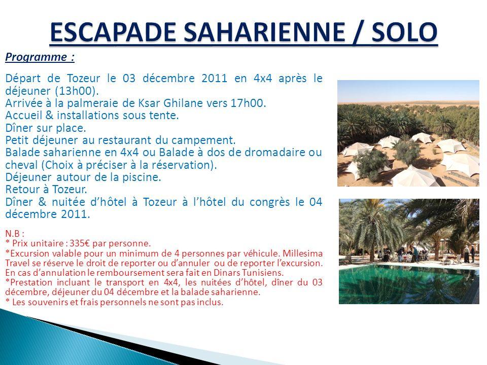 ESCAPADE SAHARIENNE / SOLO