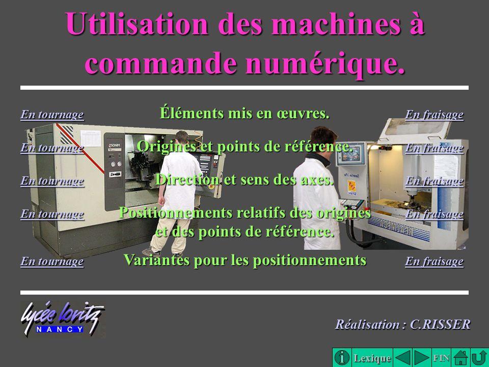 Utilisation des machines à commande numérique.