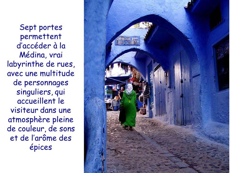 Sept portes permettent d'accéder à la Médina, vrai labyrinthe de rues, avec une multitude de personnages singuliers, qui accueillent le visiteur dans une atmosphère pleine de couleur, de sons et de l'arôme des épices