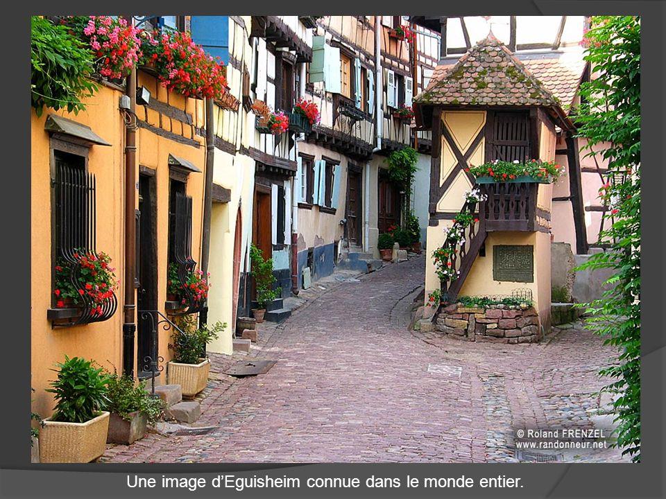 Une image d'Eguisheim connue dans le monde entier.