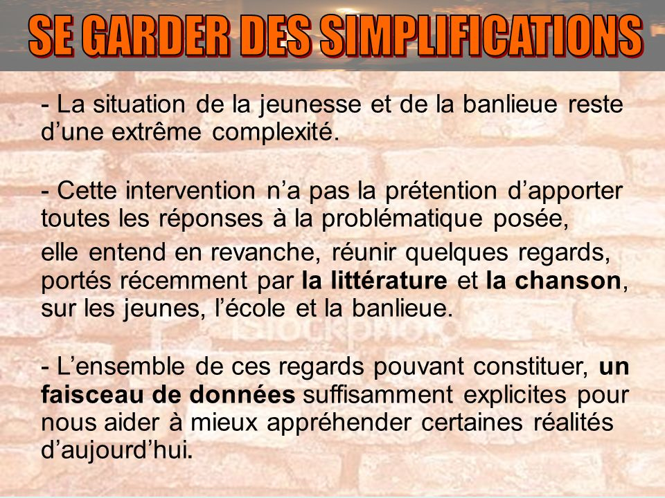 SE GARDER DES SIMPLIFICATIONS